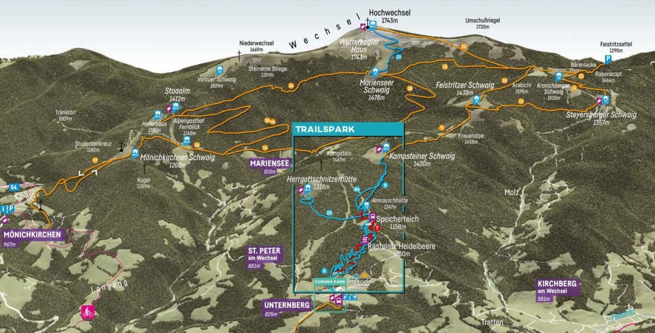 Wexl Trails Trailmap